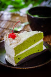 Cake en koffie Stock Afbeeldingen
