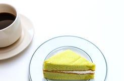 Cake en koffiekop Royalty-vrije Stock Fotografie