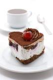 Cake en thee Royalty-vrije Stock Afbeelding