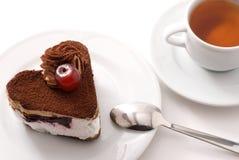 Cake en thee Royalty-vrije Stock Afbeeldingen