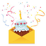Cake in Envelope Stock Images