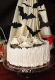 Cake för Halloween Arkivfoton