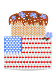 Cake festive July 4th Stock Image