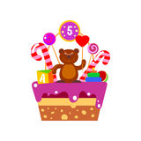 Cake on fifth Birthday Stock Photos