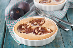 Cake with fig Stock Images