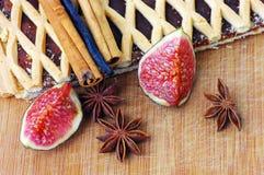 cake fig slice Стоковая Фотография
