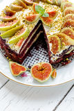 Cake with figs Stock Image