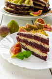 Cake with figs Stock Photo