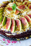 Cake with figs Royalty Free Stock Photos