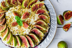 Cake with figs Royalty Free Stock Image
