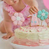 Cake for first birthday Stock Image