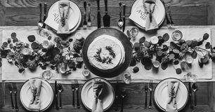Cake With Five Plates Grayscale Photo Royalty Free Stock Images