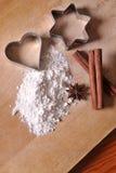 Cake and flour Stock Photo