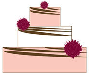 Cake With Flowers Royalty Free Stock Image