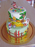 Cake fondant for child. Beautiful cake fondant for child royalty free stock photos