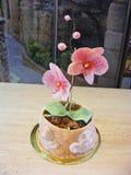 Cake fondant orchid. / flower edible stock photos