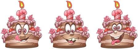 Cake. Food Emoji Emoticon collection stock images