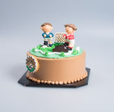 Cake or Football cake on a background. Stock Images