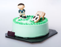 Cake or Football cake on a background. Stock Photo