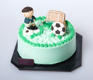 Cake or Football cake on a background. Royalty Free Stock Photography