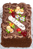 Cake _forest glade_ on plate Stock Images