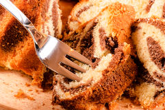 Cake on fork Royalty Free Stock Photo