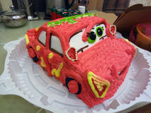 Cake in the form of a car. Stock Photo