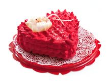 Cake in the form of heart. Royalty Free Stock Photos