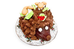 Cake in the form of a hedgehog Royalty Free Stock Photos