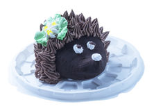 Cake in form of the hedgehog Royalty Free Stock Image