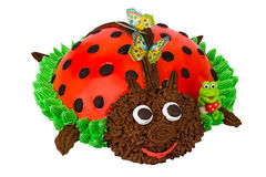 Cake in the form of a Ladybug Stock Photography