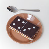 Cake in form of rectangular domino tile Stock Image