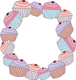 Cake frame Stock Photo