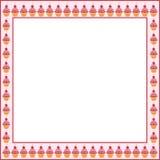Cake frame. On pink background royalty free illustration