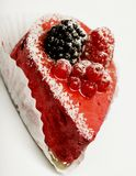 Cake with fresh berry Royalty Free Stock Photos