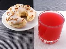 Cake with fresh cherry juice Stock Photos