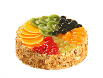 Cake with fresh fruits Stock Images