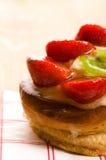 Cake with fresh fruits Stock Image