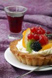 Cake with fresh fruits Stock Photos