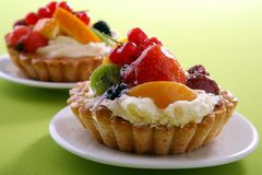 Cake with fresh fruits Royalty Free Stock Photo