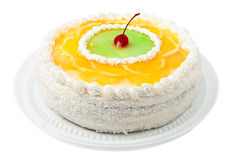 Cake with fruit Royalty Free Stock Images