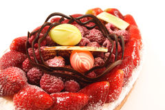 cake fruit Royaltyfri Bild