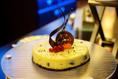 Cake with fruit Stock Images
