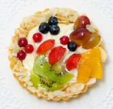Cake with fruit and berries Royalty Free Stock Images