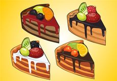 Cake with fruit and berries Stock Photography