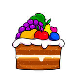 Cake fruit cartoon Royalty Free Stock Photo