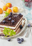 Cake and fruit Stock Images