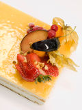 Cake fruit with cream Stock Image