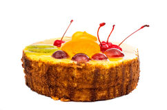 Cake with fruit Royalty Free Stock Image