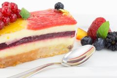 Cake with fruit jelly Stock Image